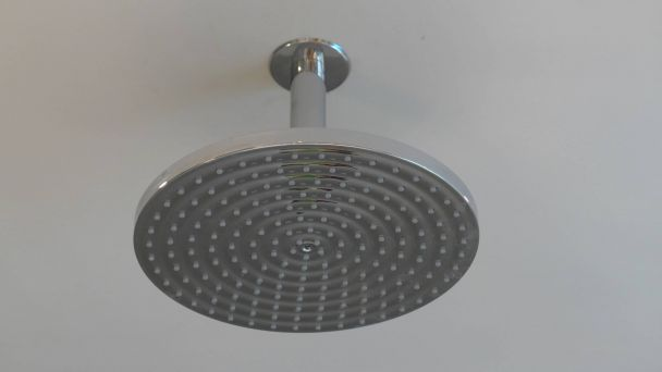 large fixed shower head