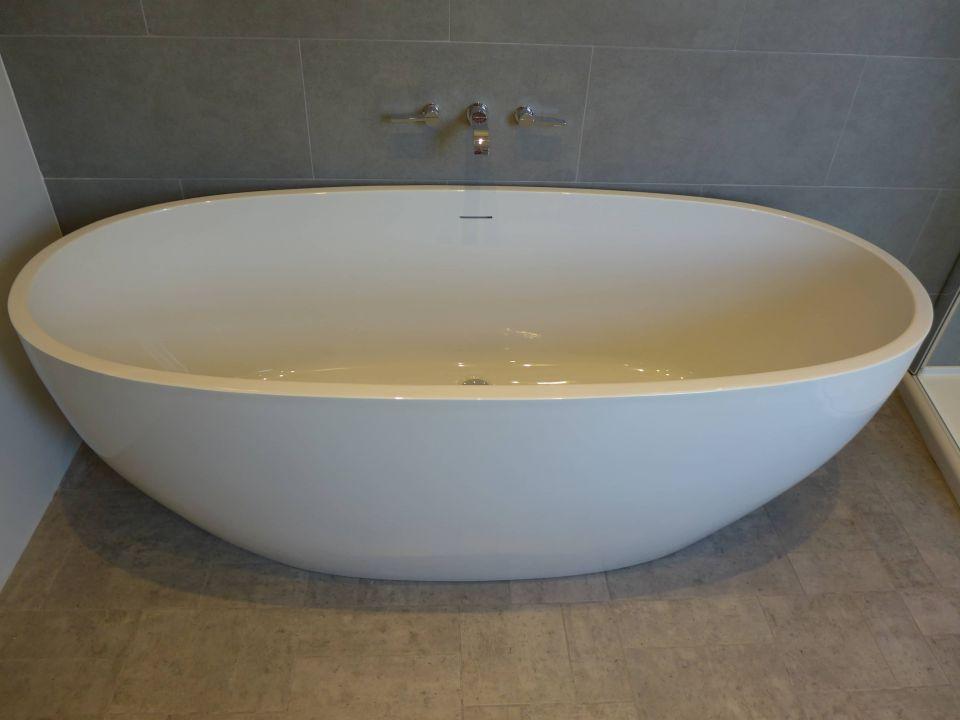 large freestanding bath