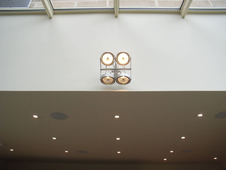 lighting into an atrium