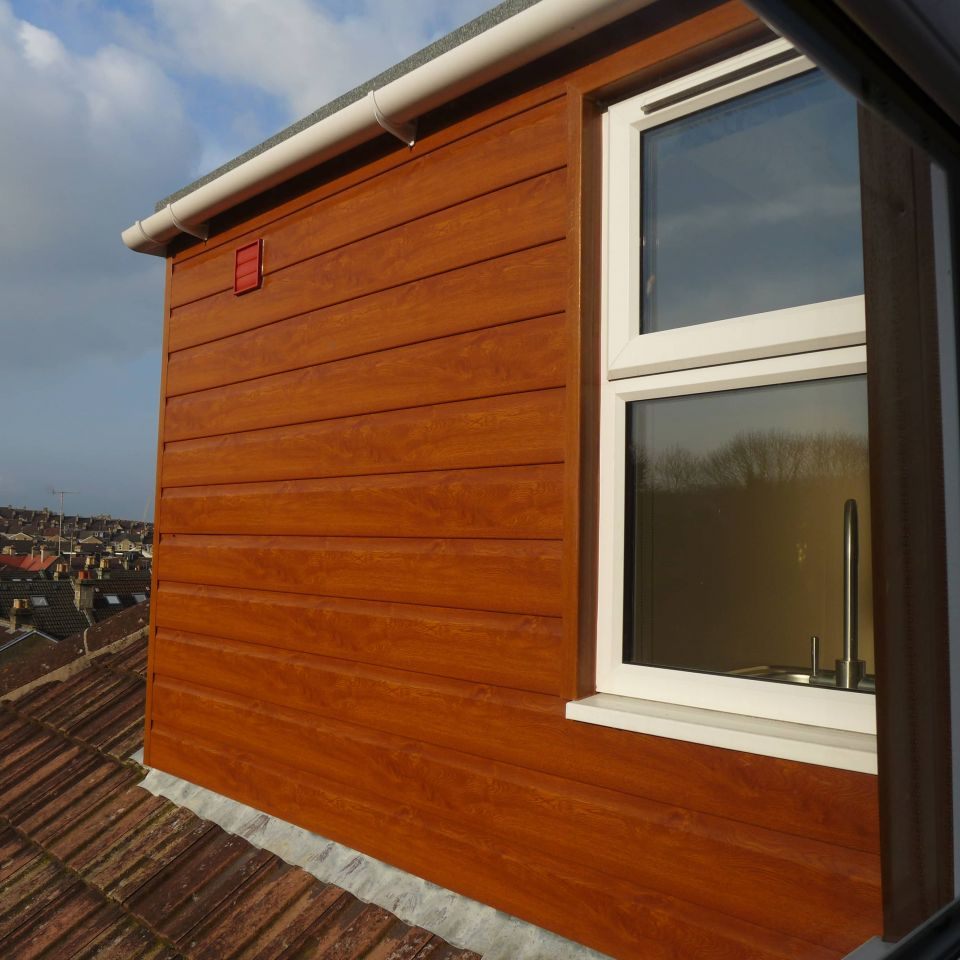 maintenance-free wood effect dormer cladding