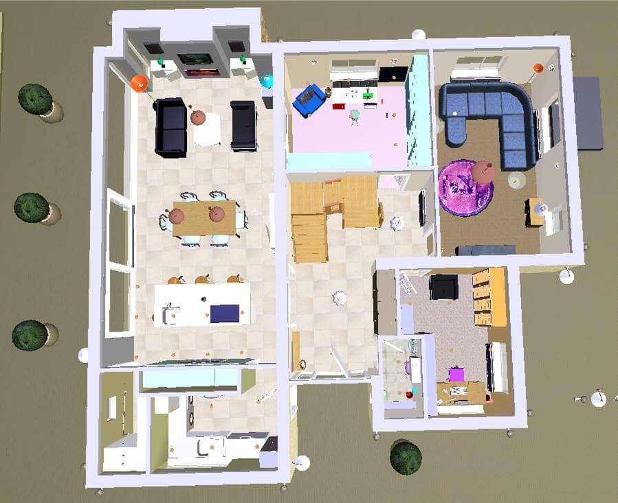 new build 3D floor plan