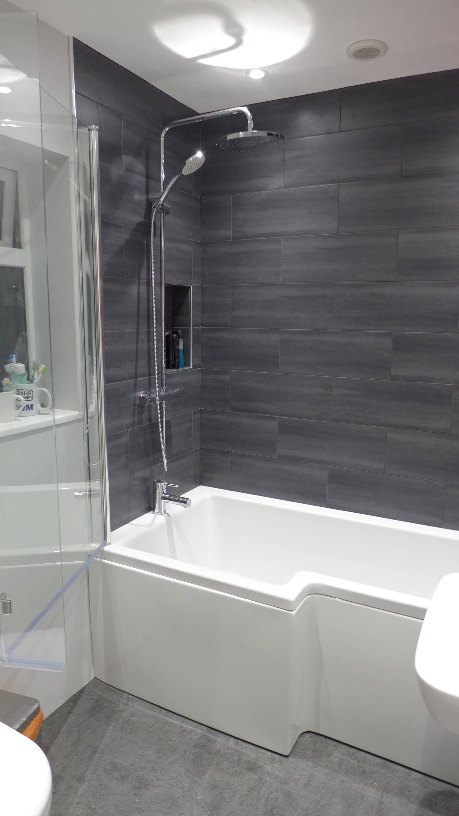 Family bathroom refurbishment bath style within - Showers for small bathrooms ...