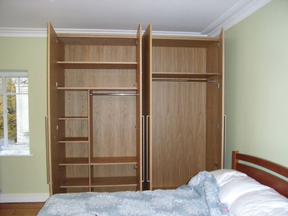 Cost of bespoke furniture style within for Veneer finish wardrobe