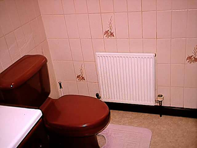old brown cloakroom suite