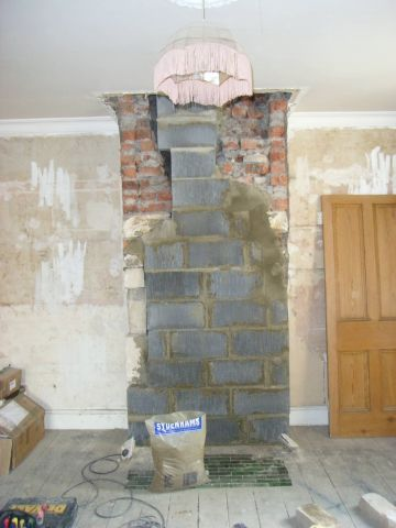 reducing the chimney breast