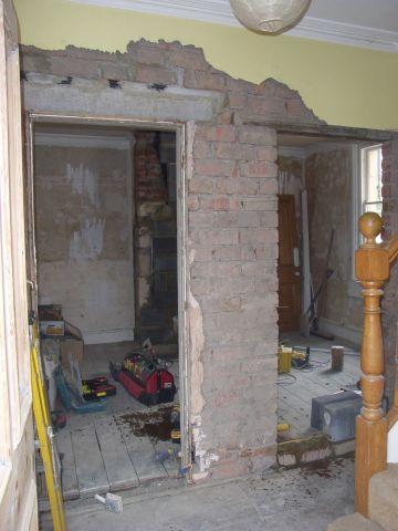 renovation works in large victorian house