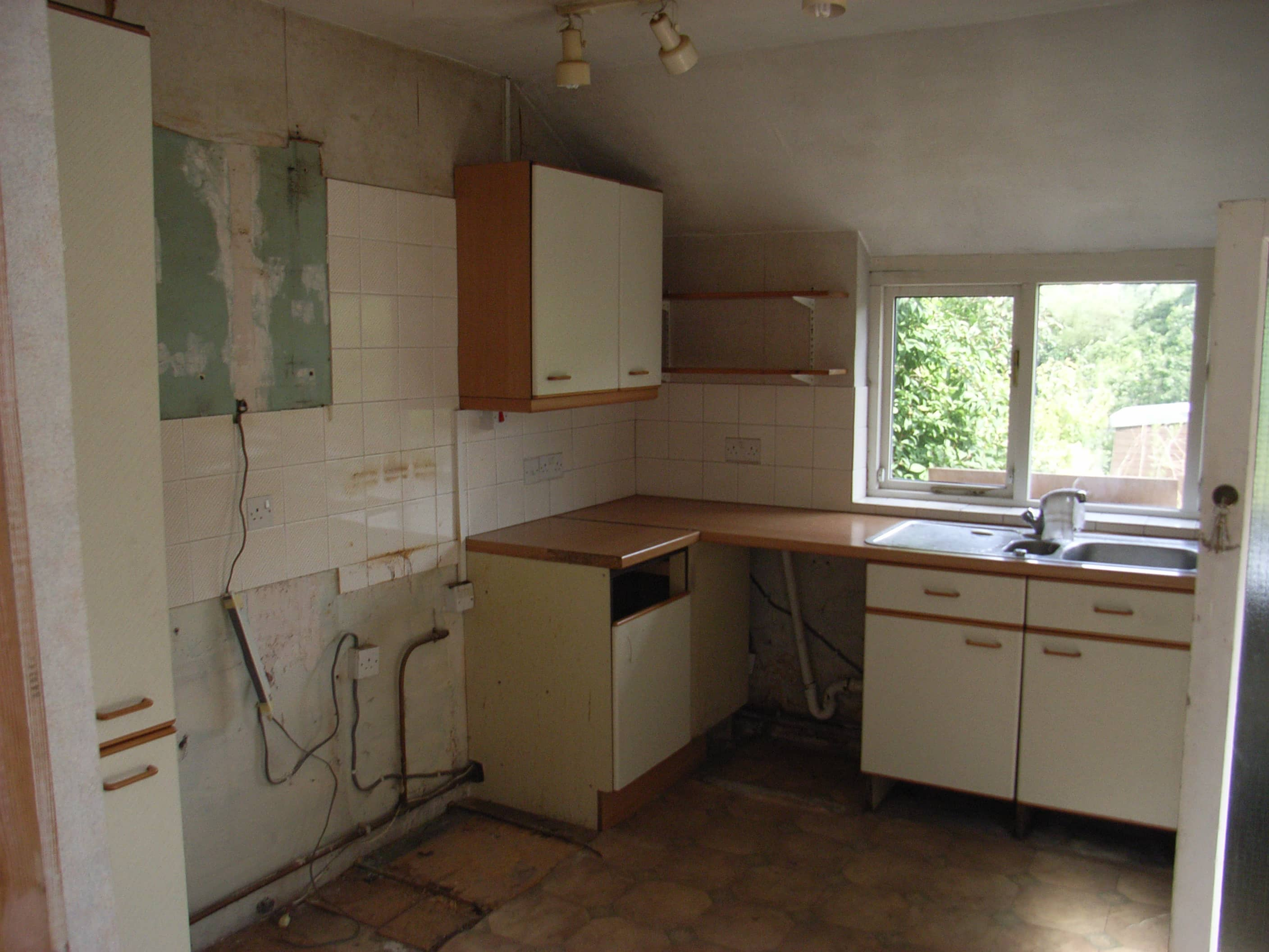 rip out old kitchen