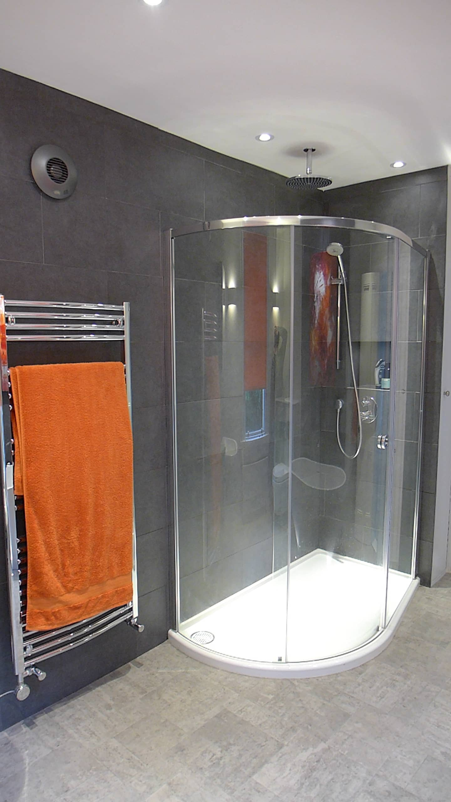 shower enclosure in bath