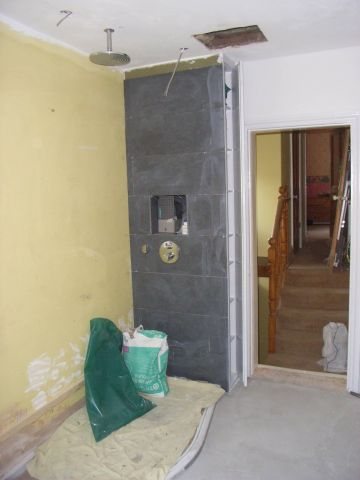 tiling shower wall