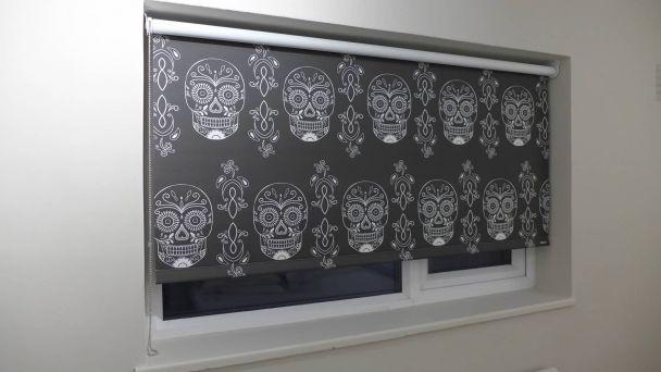 skull roller blind