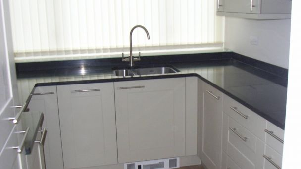 small kitchen after refurbishment