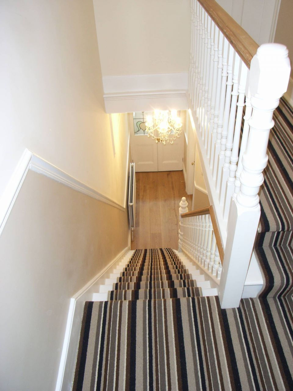 smart striped stair carpet