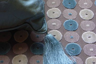 spotty fabric and tassle