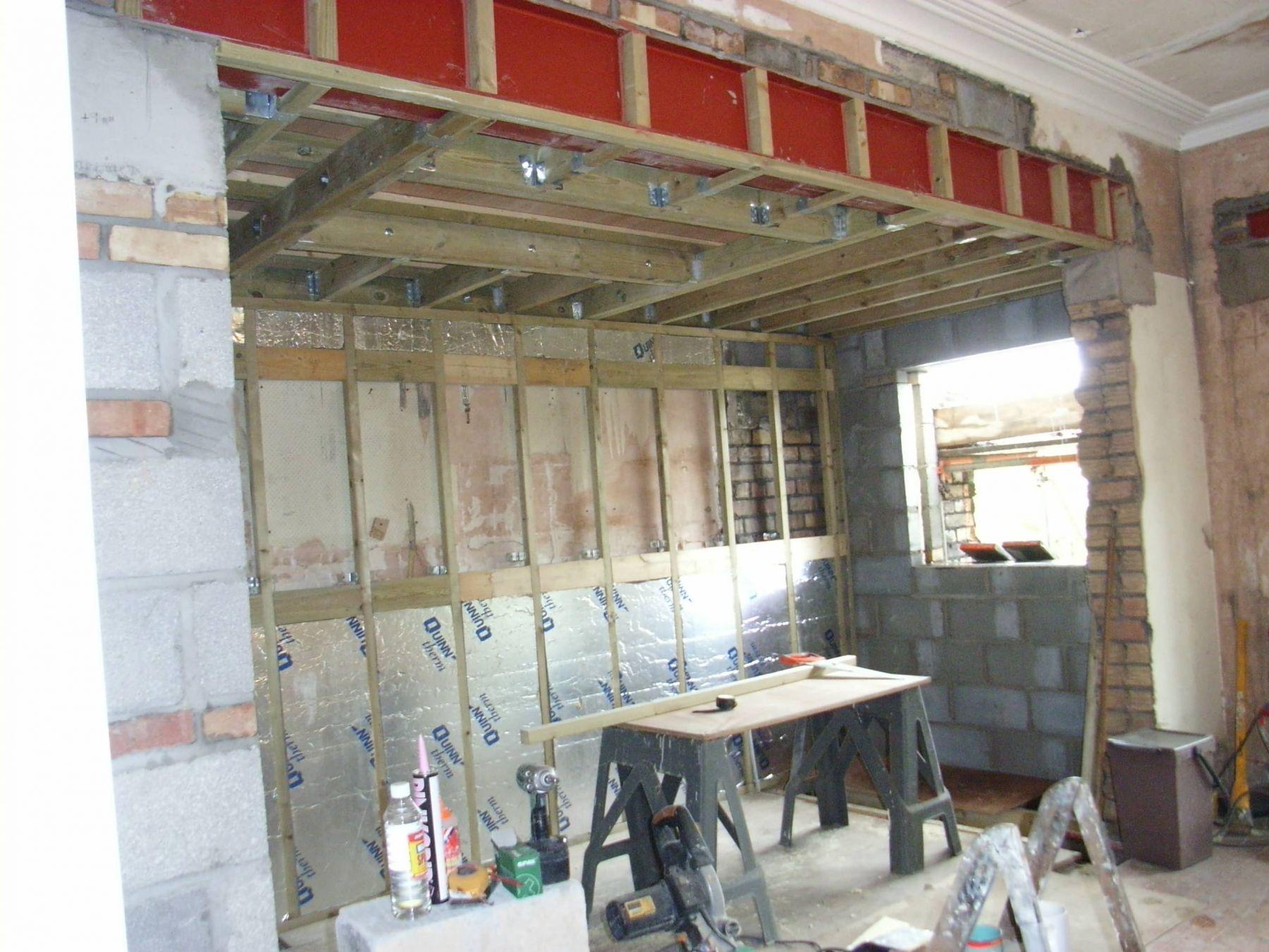 steel I beam for kitchen diner