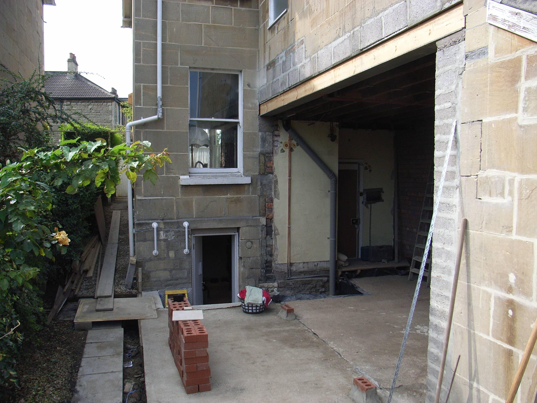 steel beam installed