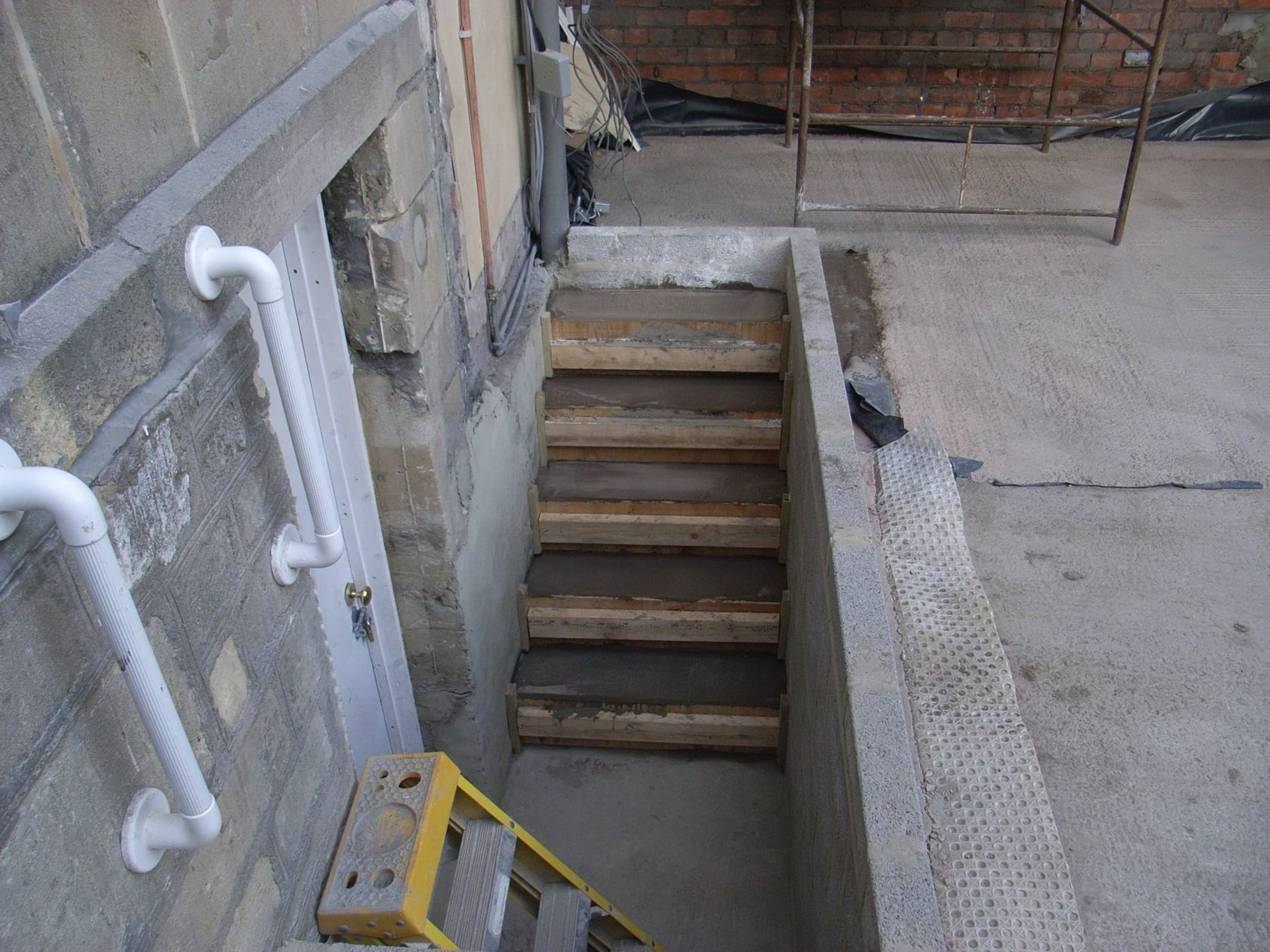 steps constructed to basement conversion
