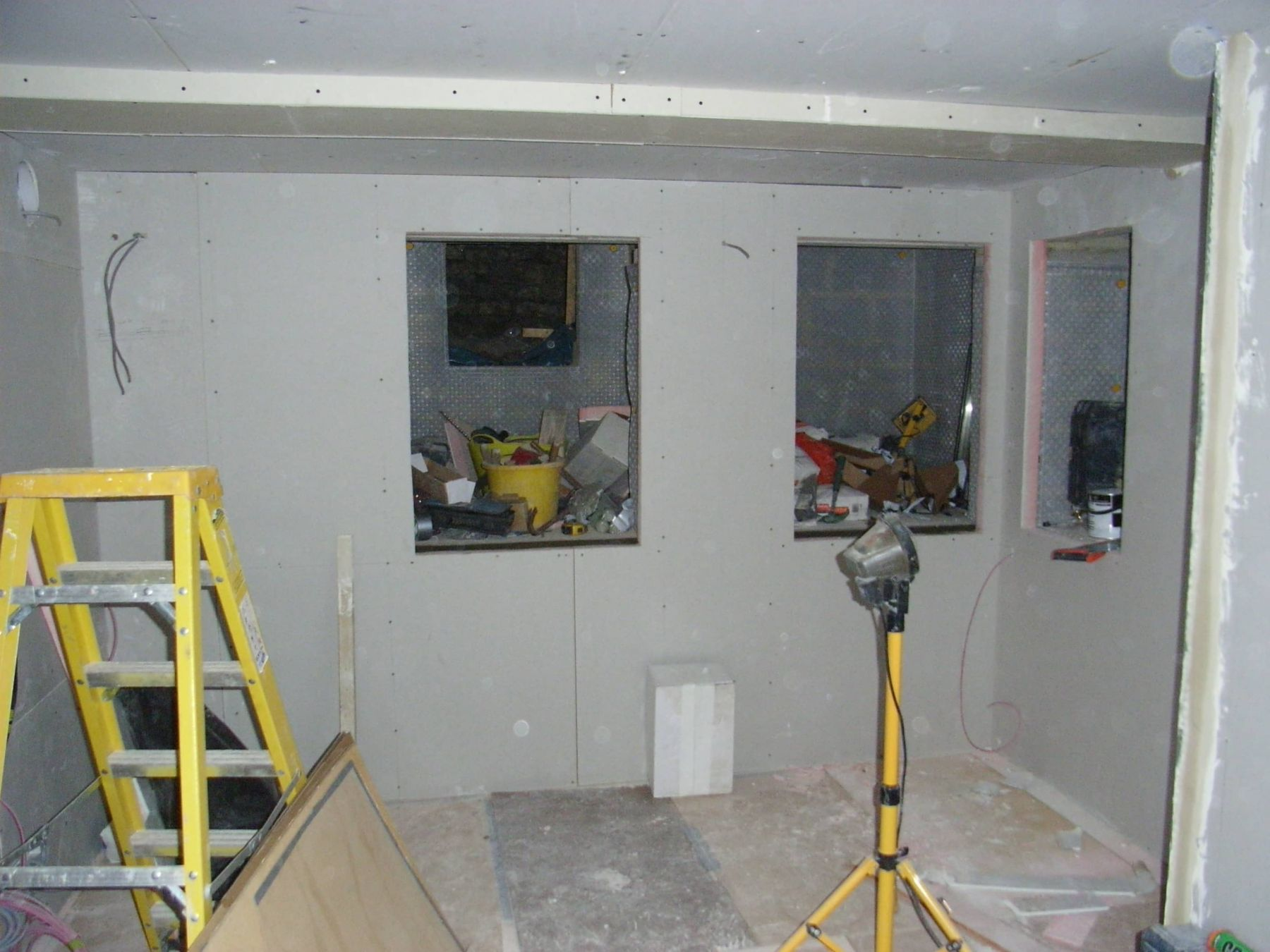 storage in basement construction
