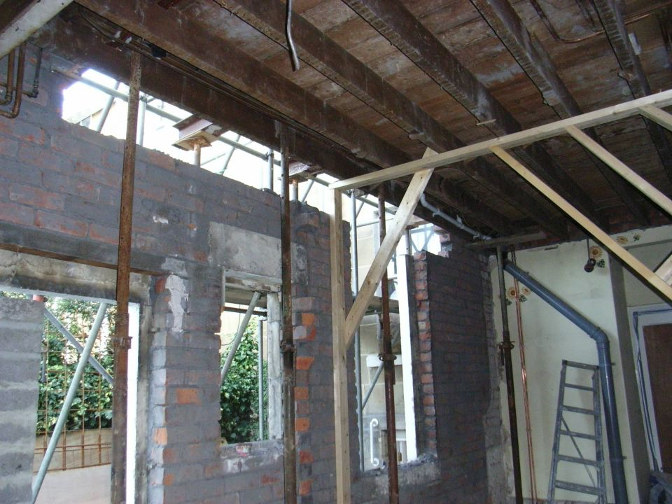 support to first floor ready for new steel