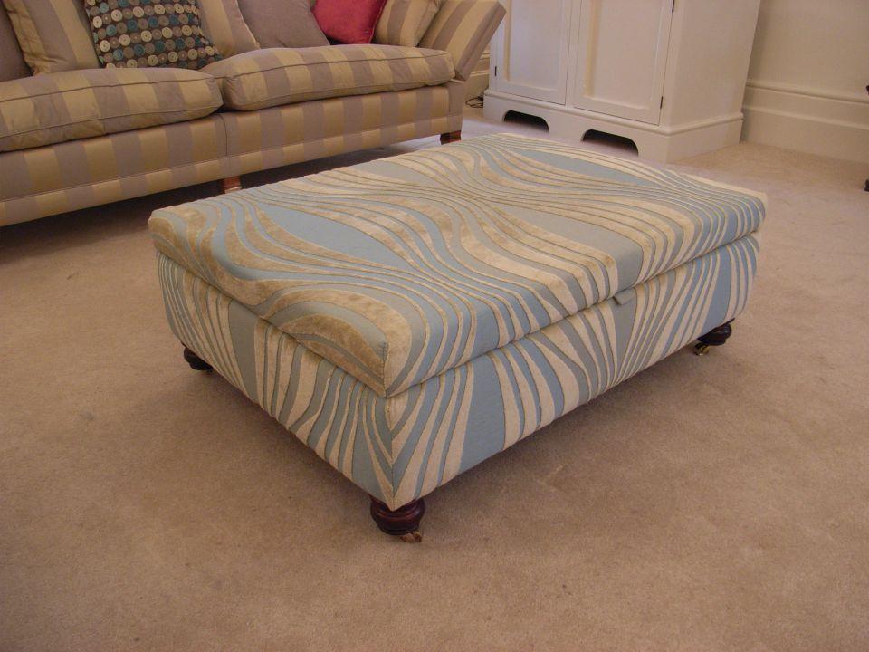 upholstered storage footstool