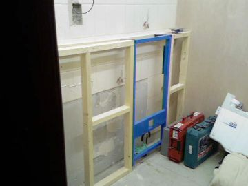 wc frame installation