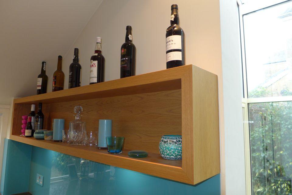 oak veneer box shelf