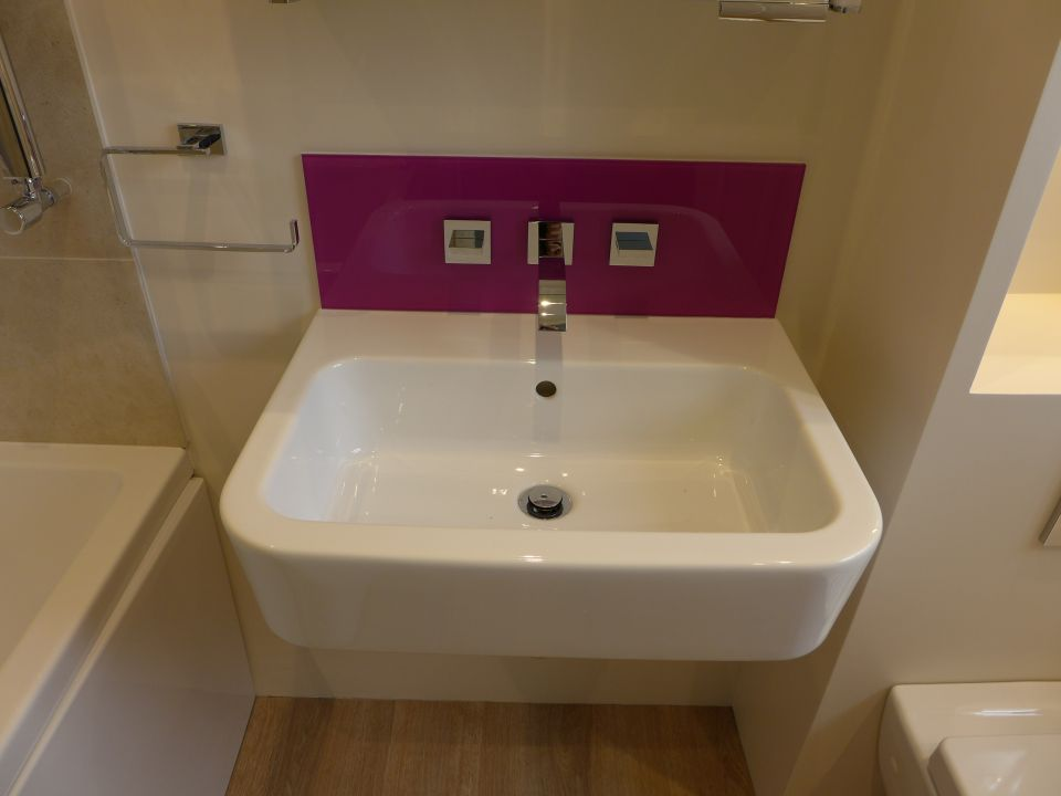 Bathroom sink design ideas - Glass Splashbacks Style Within