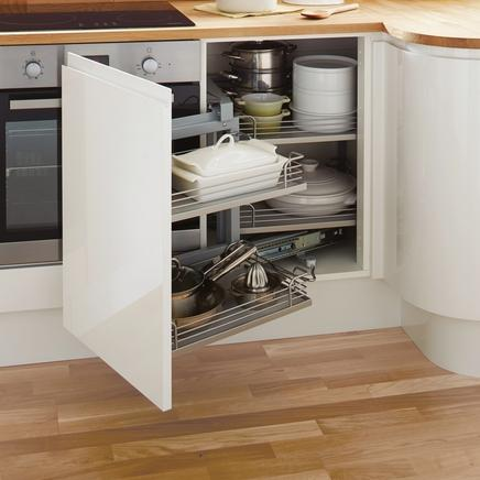 A Carousel Is Simply A Mechanism With 2 Round Shelves That Rotate U2013 Being  Circular, You Lose Some Of The Capacity Of The Square Cupboard. Kitchen ...