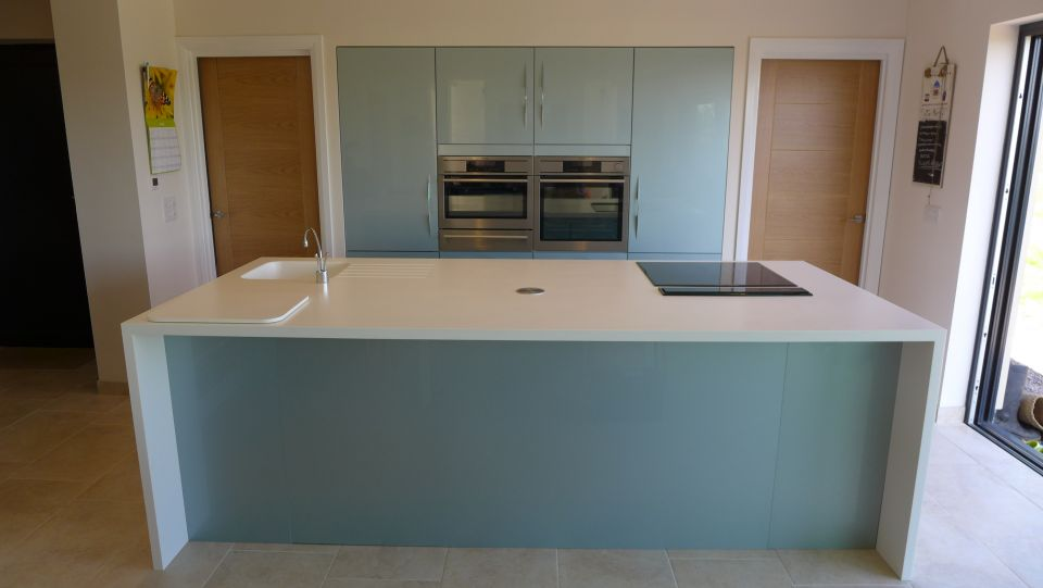 modern kitchen design in Bath with gloss units