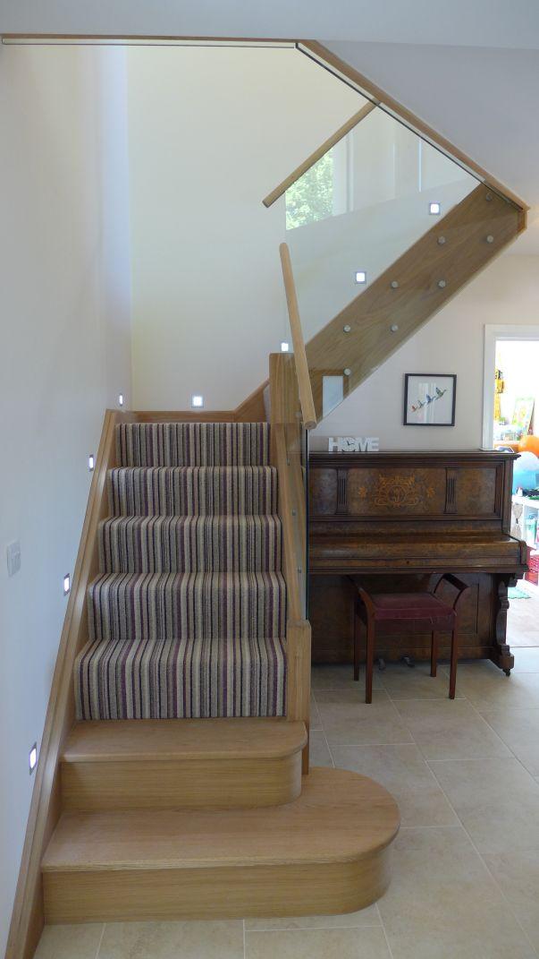 modern striped stair carpet