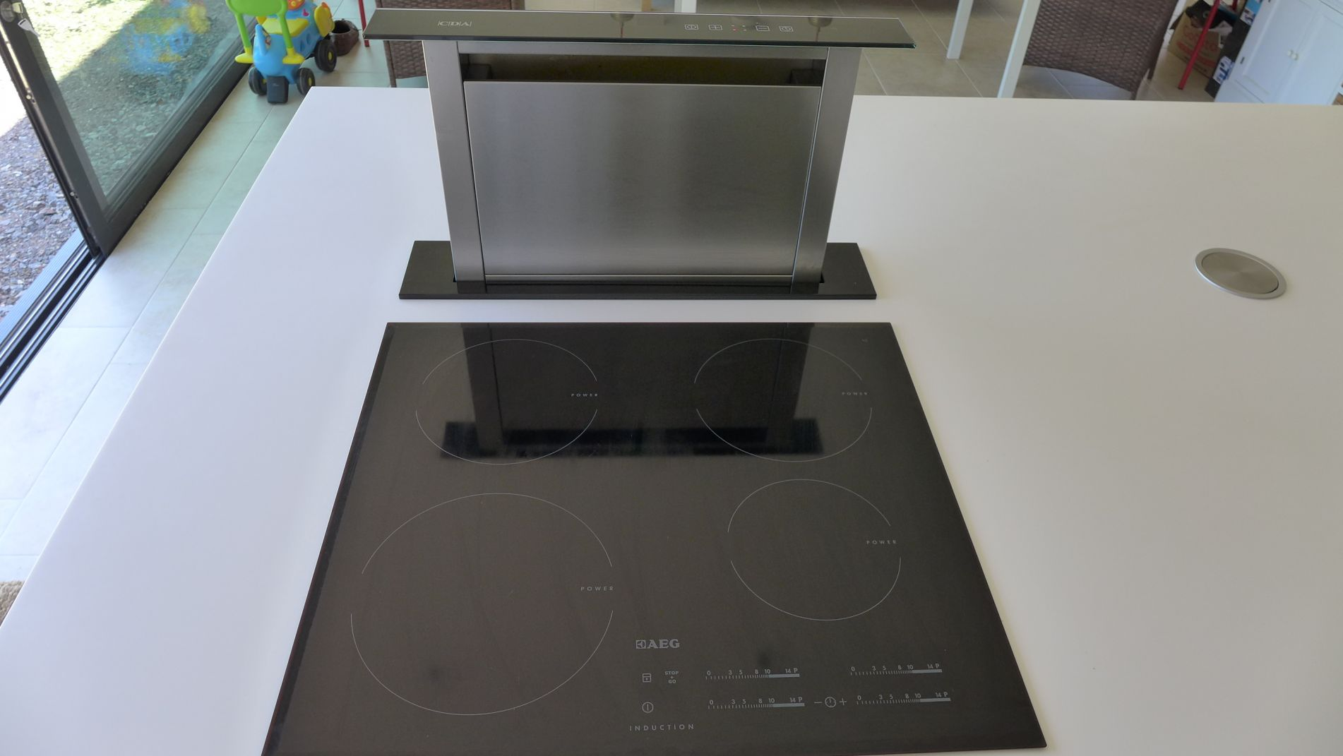 pop up downdraft kitchen extractor