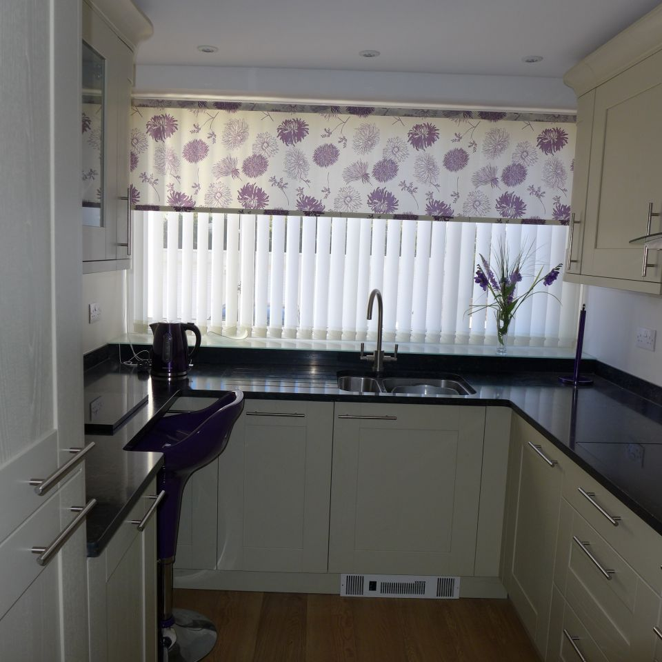 well fitted small kitchen