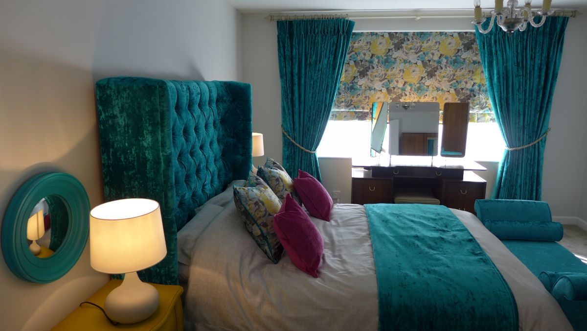 Teal And Gold Bedroom - Costa-Maresme.com