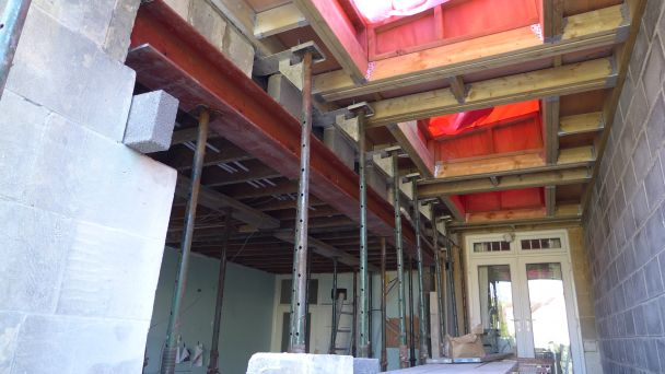 new steel slotted into first floor space