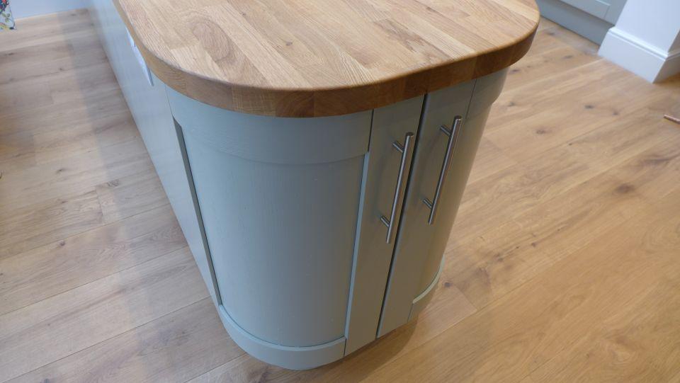 oak worktop for kitchen peninsula
