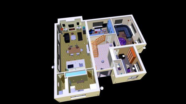ground floor plan in 3d