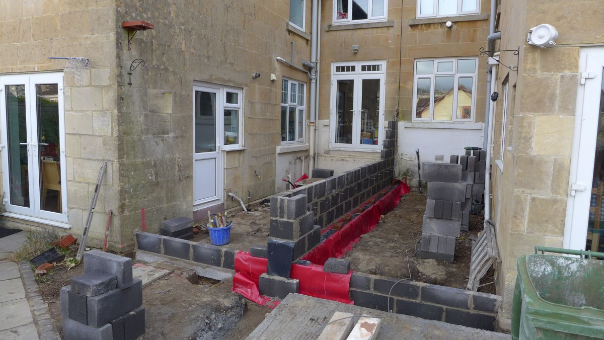 the contractors are now building the boundary wall