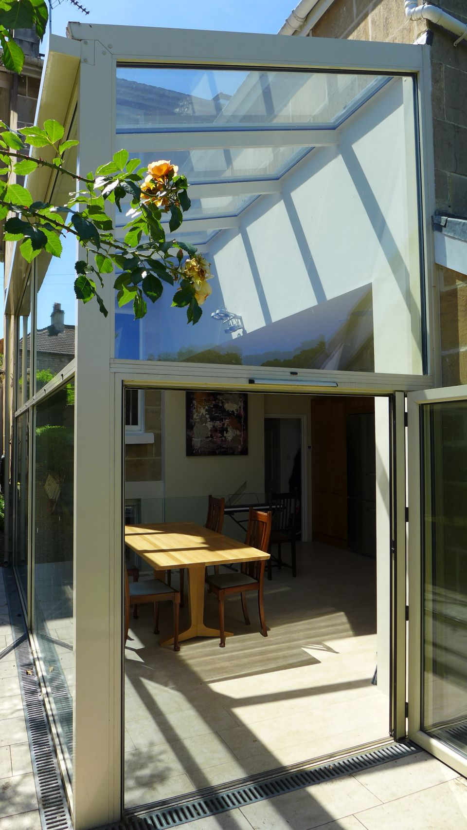 interior design in Bath - a glass side conservatory to an Edwardian end of terrace house