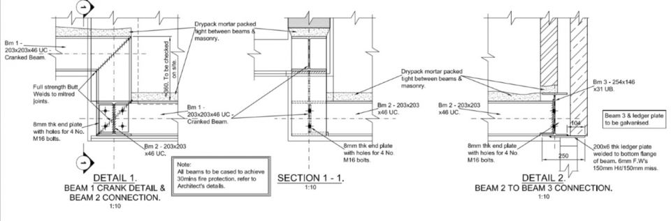 Structural Steel Connections Dwg : Structural steel for a house extension style within