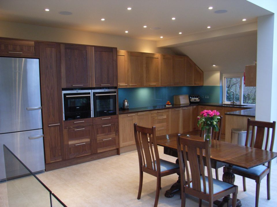 Teal Glass Kitchen Splashback