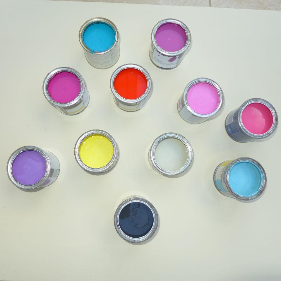 sample paint pots