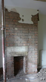 Chimney breast before removal