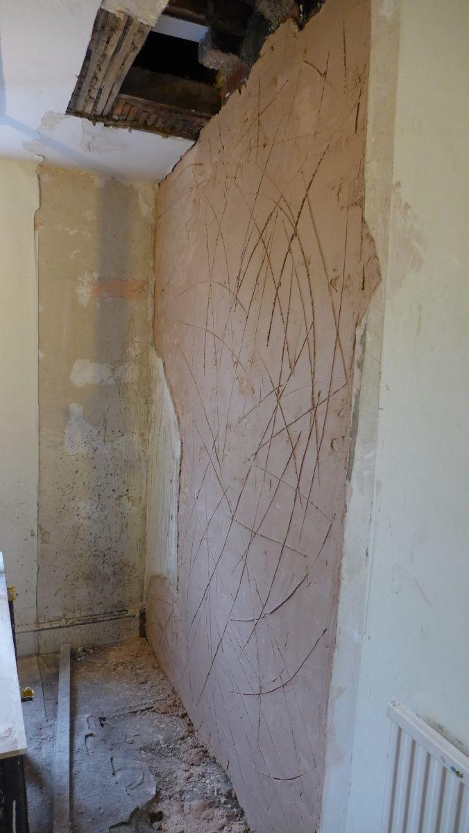 Hardwall on exposed brickwork