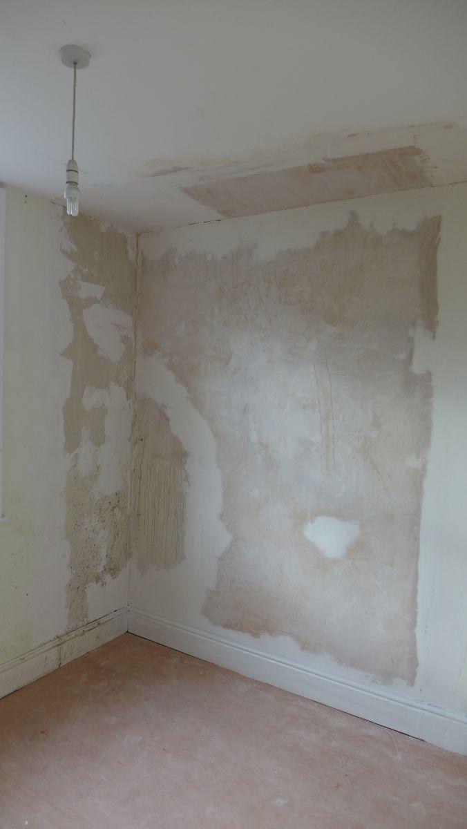 Wall after plaster skim