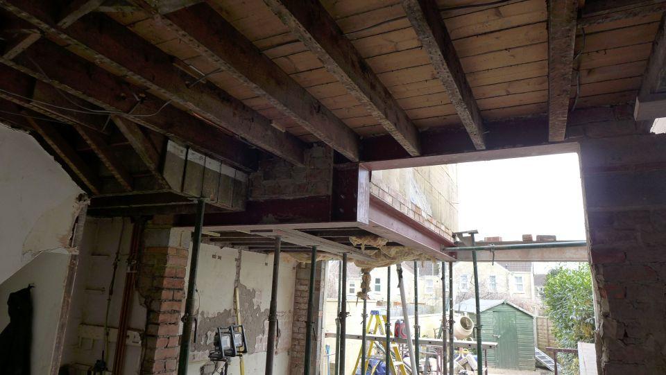 cranked steel support
