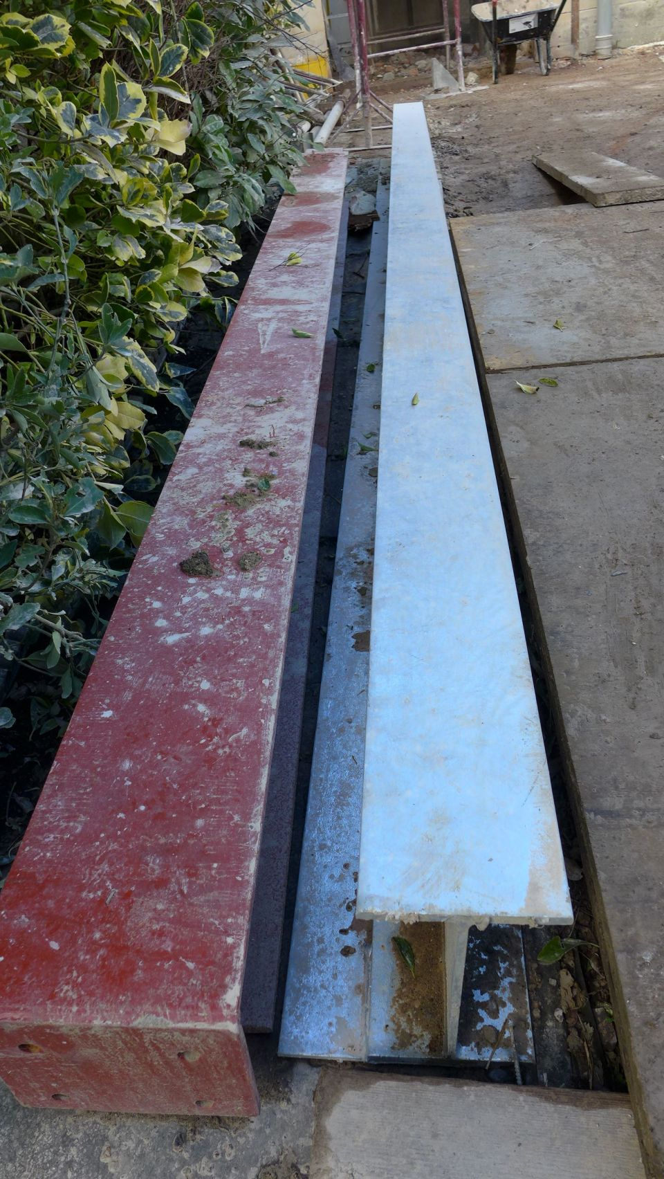 galvanised steel with ledger plate