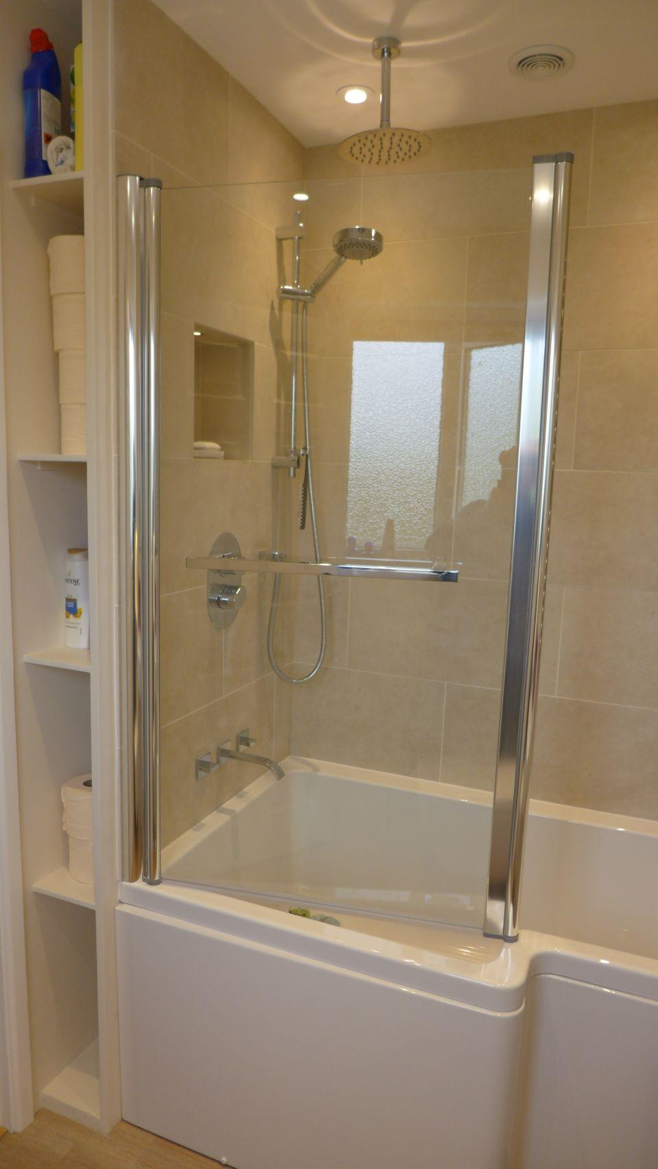 concealed shower storage