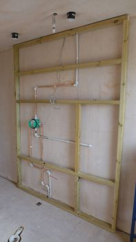 shower supplies in frame