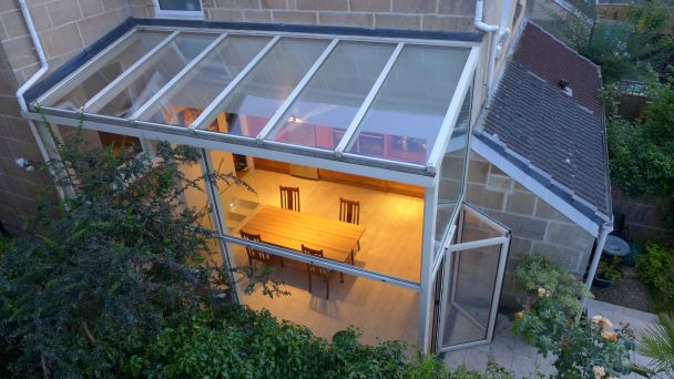 glass garden room