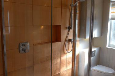 Copper Glass Shower