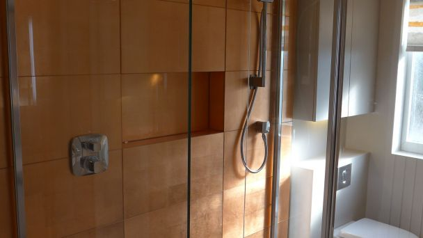 Copper Glass Shower